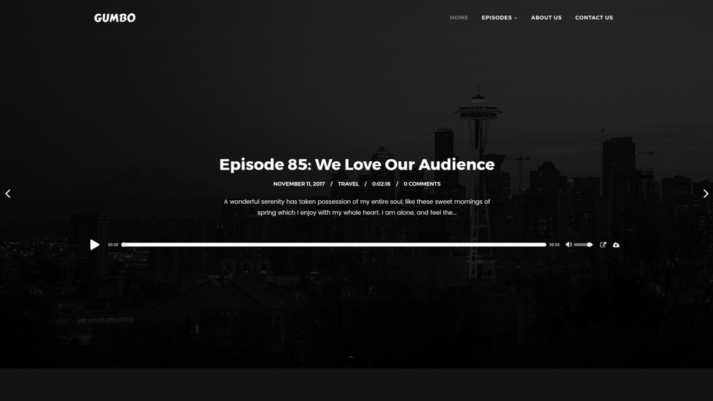 Gumbo WordPress Podcast Theme