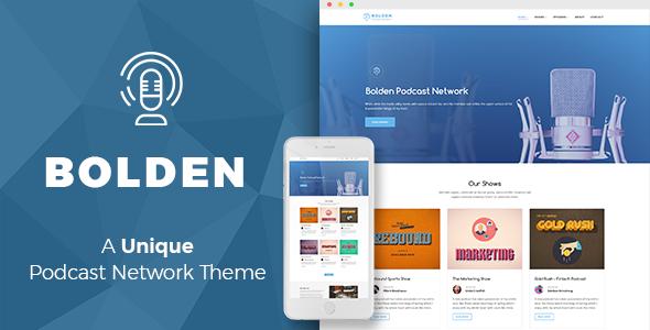Bolden WordPress podcsat theme