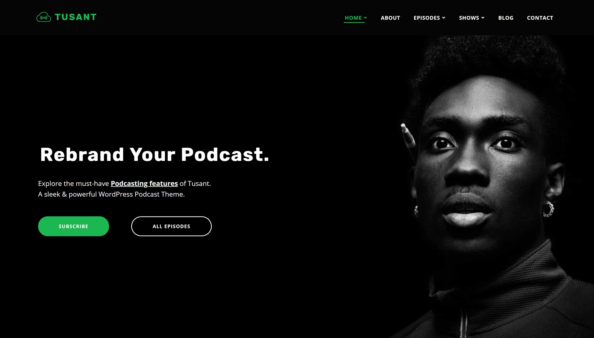 Tusant podcast website with Anchor