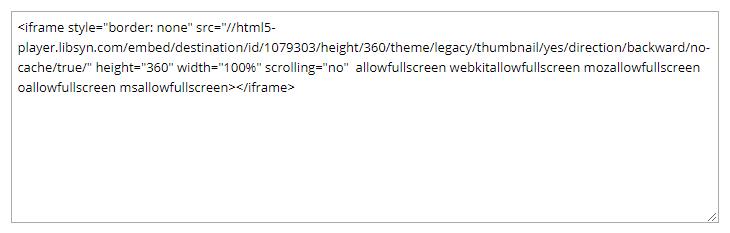 A Libsyn embed code.
