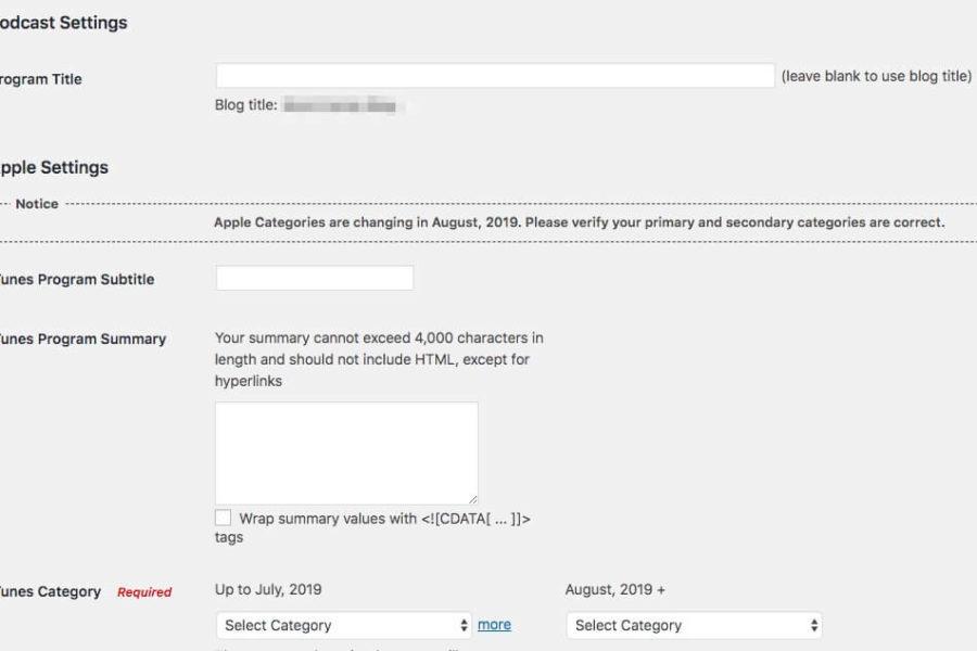 The PowerPress Simple Mode settings page.