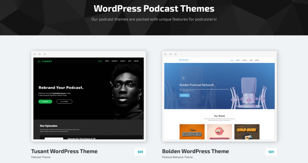 WordPress Alternative - SecondLine Themes' premium offerings.
