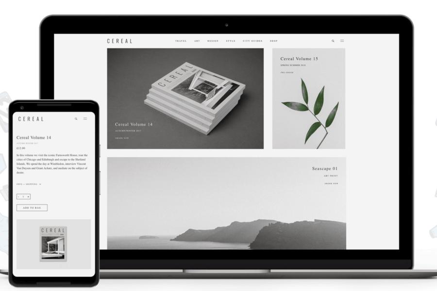 The WooCommerce website.