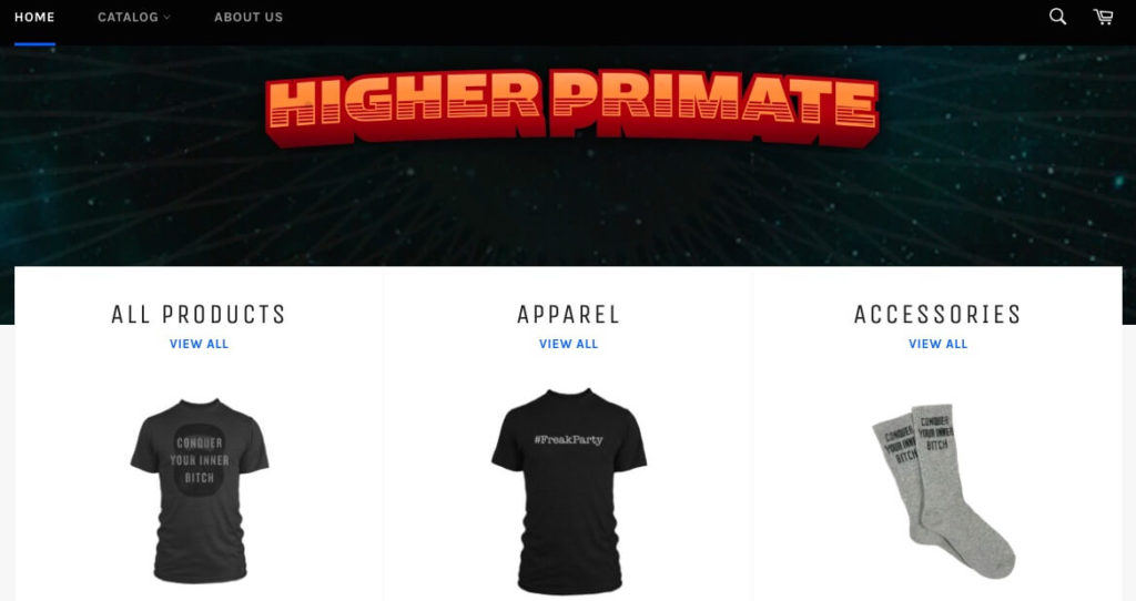 The Higher Primate ecommerce store