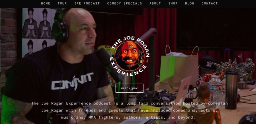 The Joe Rogan Experience podcast.