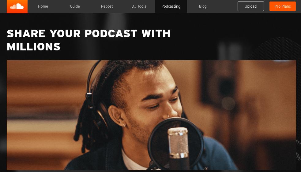 The SoundCloud Podcast website.