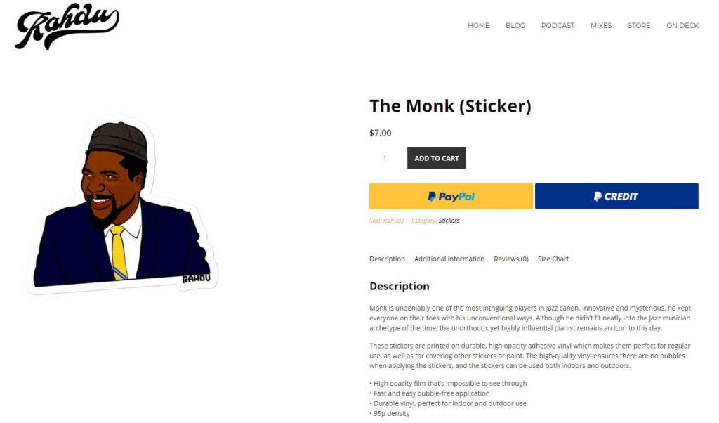 DJ Rhadu WooCommerce product.
