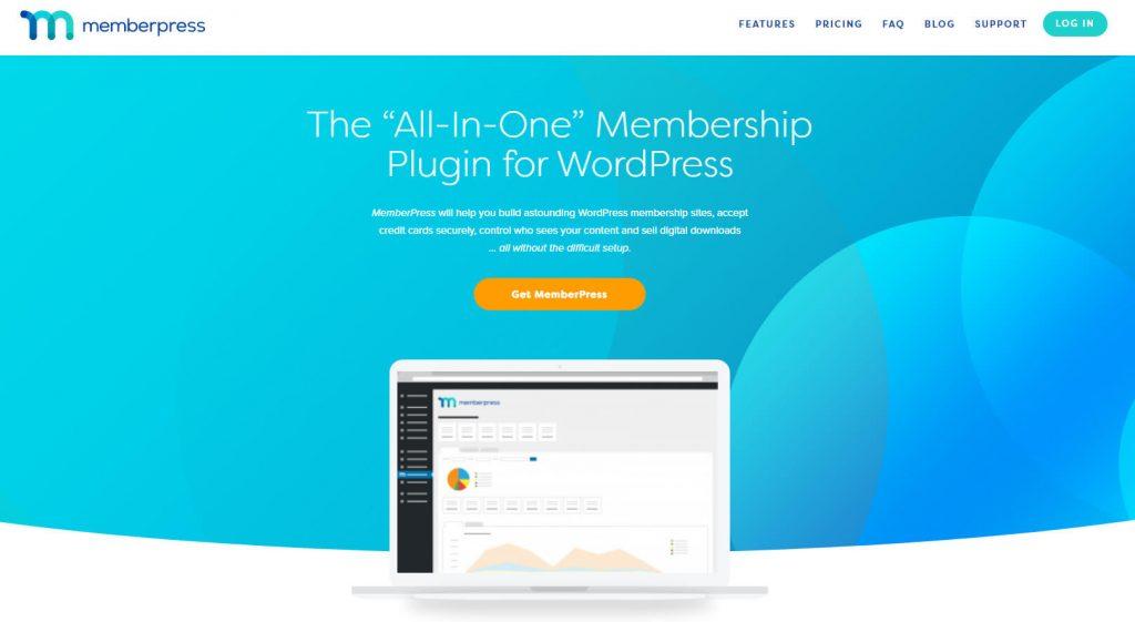 MemberPress homepage.