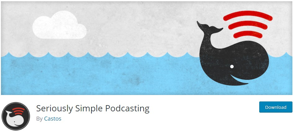The banner logo for the Seriously Simple Podcasting plugin