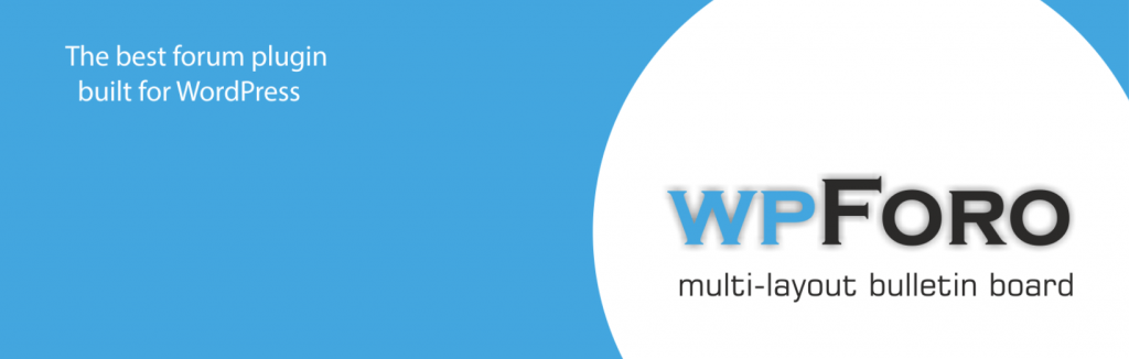 The white and blue wpForo Forum banner.