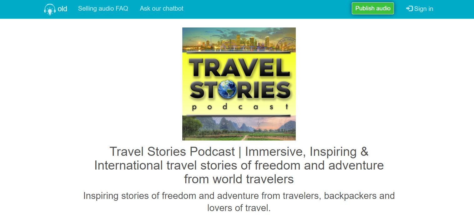 A podcast that engages listeners through stories