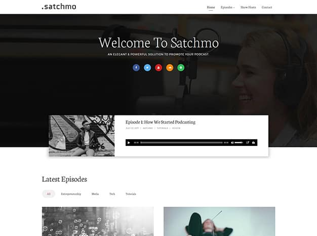 Satchmo WordPress Podcast Theme