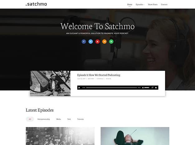 Satchmo WordPress Podcast Theme